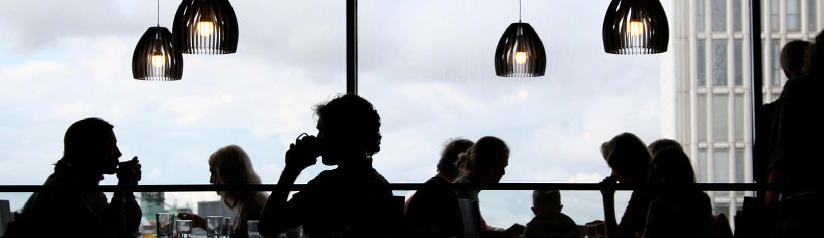 Cafe silhouettes