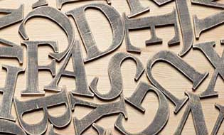 Large wooden letters thumbnail