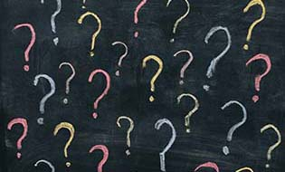 Question marks chalk thumbnail