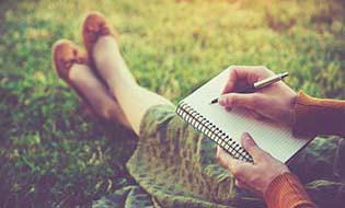 Writing notebook outside thumbnail