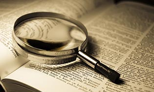 Dictionary magnifying glass thumbnail