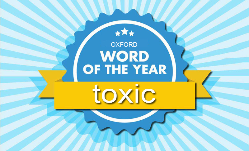 Oxford word the year toxic banner hero